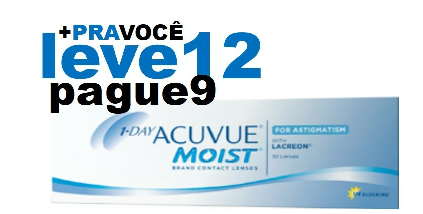 Combo 1 Day Moist Astigmatismo - Leve 12 e Pague 9