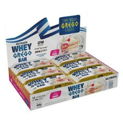 WHEY GREGO BAR SABOR BOLO DE FESTA DISPLAY C/ 12UN X 40G