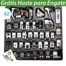 KIT CALCADOR MULTIFUNCIONAL COSTURA DOMESTICA 42 PÇS + HASTE