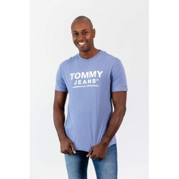 T-Shirt Front Logo Azul Tommy