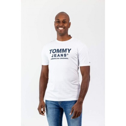 T-Shirt Front Logo Branca Tommy